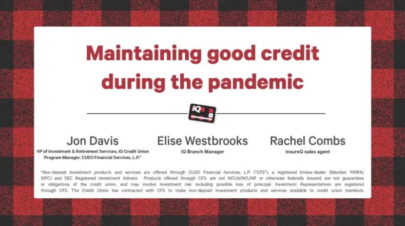 Maintaining Good Credit During the Pandemic